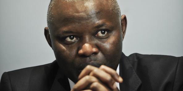 Vital Kamerhe, ancien directeur de cabinet de Félix Tshisekedi, à Paris, dans les locaux de «Jeune Afrique», le 20 août 2013.