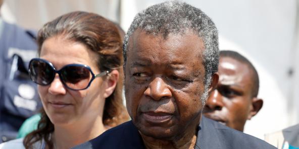 Le Pr Jean-Jacques Muyembe, à la tête de la riposte contre le coronavirus en RDC (ici en août 2019 à Goma, lorsqu'il dirigeait les opérations pour contrer Ebola).