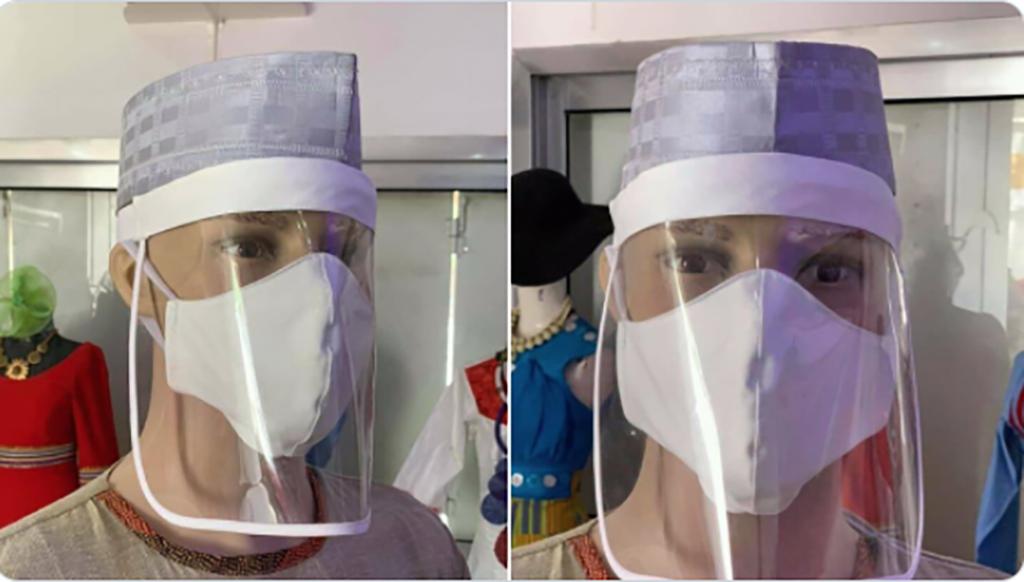 Masques créés au Tchad pour protéger le personnel médical.