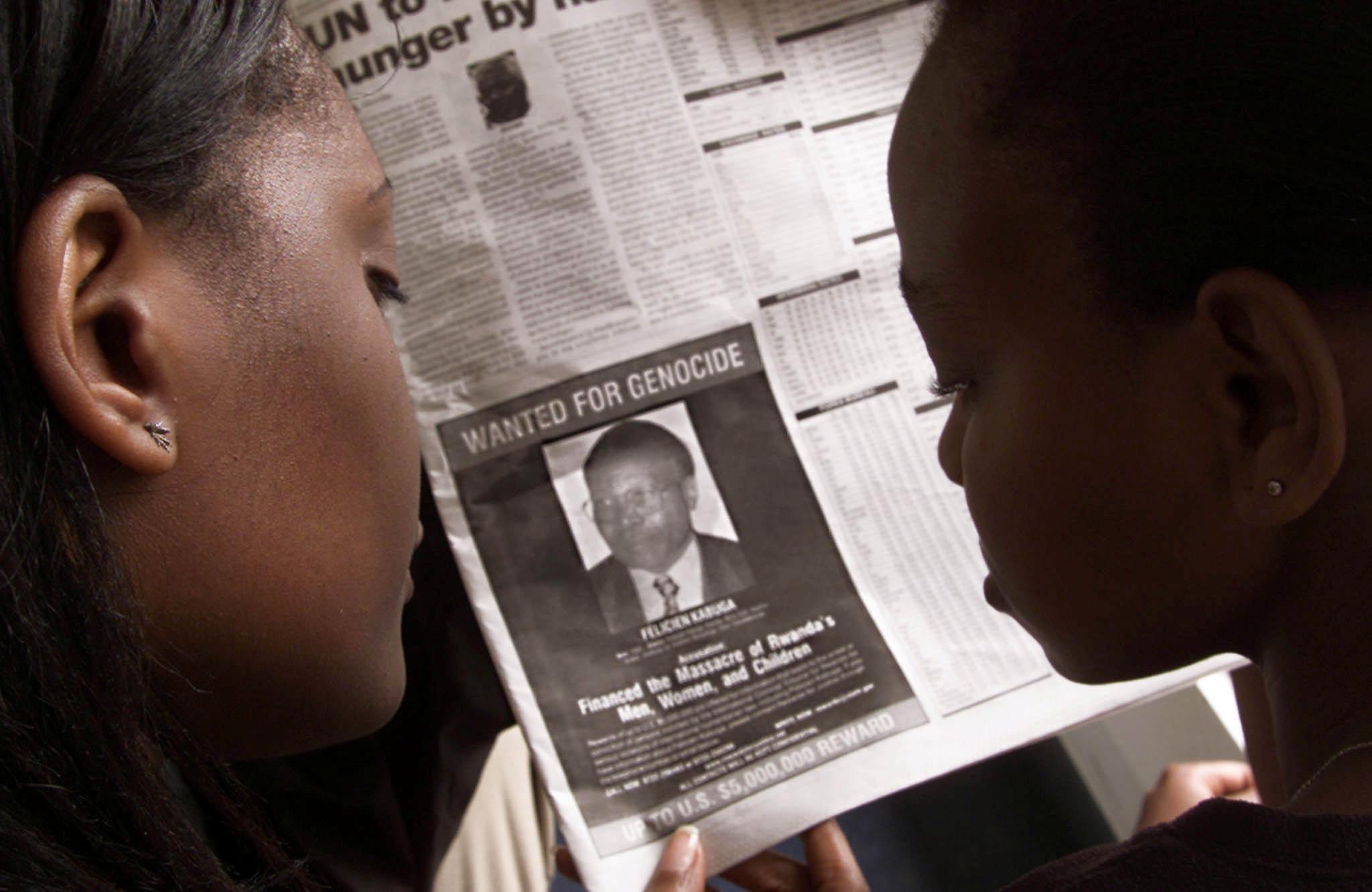 La photo de Félicien Kabuga dans un journal kényan, le 12 juin 2002, alors que les État-Unis avaient lancé une campagne médiatique pour le retrouver.
