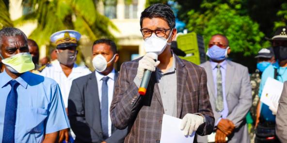 Le président malgache Andry Rajoelina, le 9 mai.