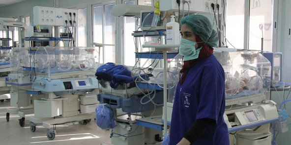 Maternité de l'hôpital de la Rabta, Tunis, le 11 mars 2019.