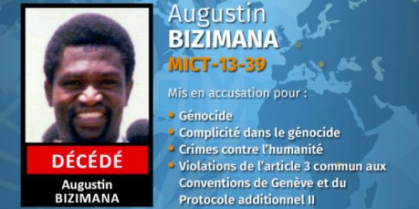 Augustin Bizimana, l'un des principaux fugitifs accusés d'avoir été l'un des hauts commanditaires du génocide perpétré en1994.