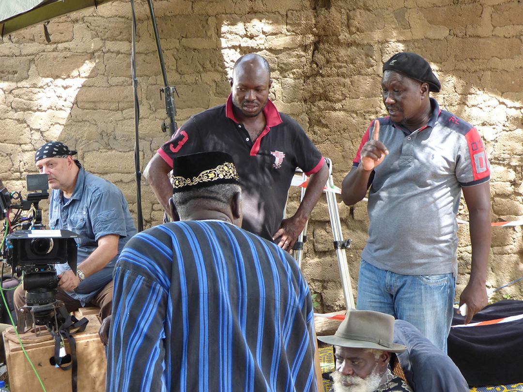 Adama Roamba (casquette noire, à droite)© DR