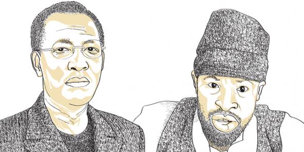 Le président tchadien Idriss Déby Itno et le chef de Boko Haram, Abubakar Shekau