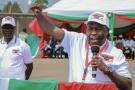 Évariste Ndayishimiye, ici lors d'un meeting, a été déclaré vainqueur de la présidentielle au Burundi par la Ceni, le 25 mai 2020.