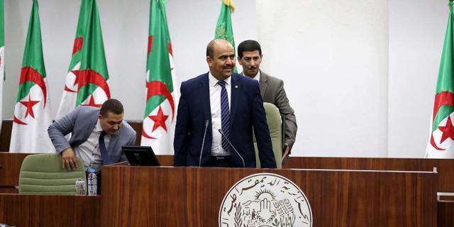Slimane Chenine, président de l'Assemblée populaire nationale (APN) à Alger, le 10 juillet 2019.