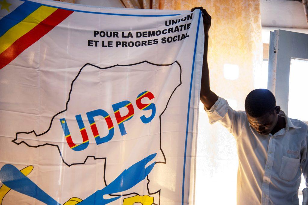 Au siège de l'UDPS, dans la commune de Limete.