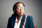 Vera Songwe (Cameroun), Secretaire executive de la Commission economique de l'ONU pour l'Afrique (CEA), lors d'un entretien avec le journaliste Julien Wagner. Abidjan (Cote d'Ivoire), le 6 avril 2019.