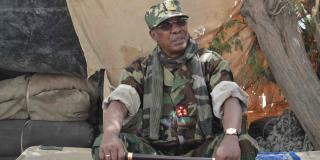 Le président tchadien Idriss Déby Itno lors de l'opération Colère de Bomo, fin mars 2020.