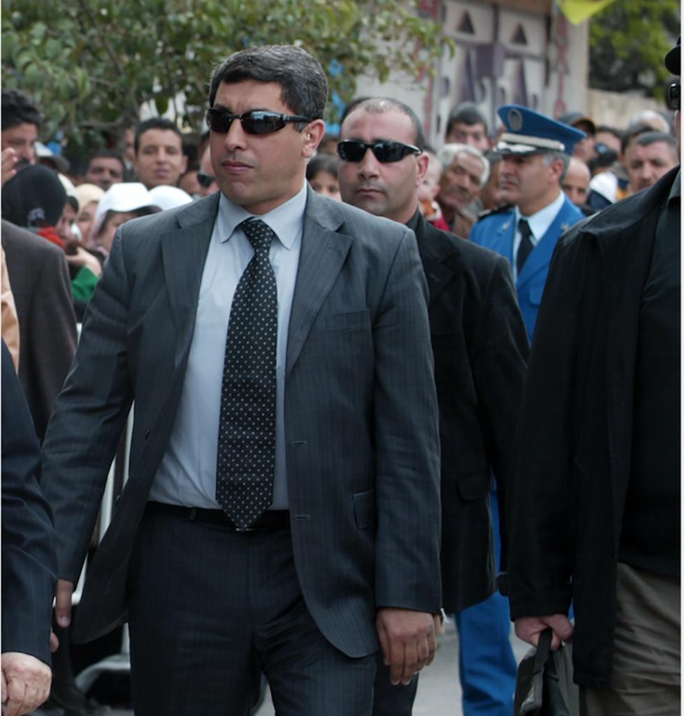 Belkacem Laribi, responsable de la protection personnelle du chef de l'État algérien Abdelmadjid Tebboune.