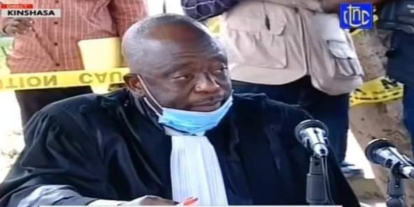 Le juge Raphael Yanyi, ici lors de l'une des audiences du procès Kamerhe.