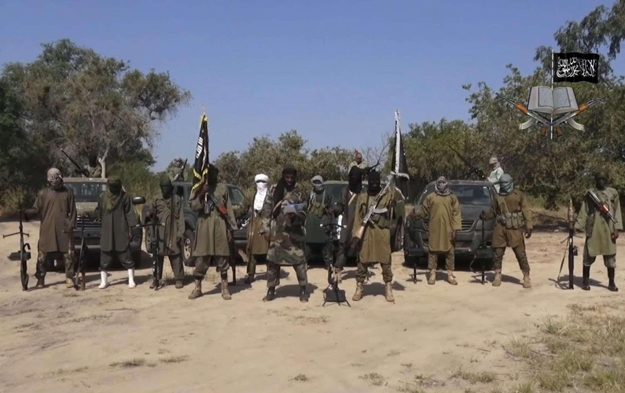 Capture d'écran d'une vidéo de propagande de Boko Haram datant de 2014.