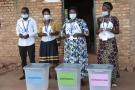 Des responsables électoraux lors de l'élection présidentielle au Burundi, à Giheta, province de Gitega, le 20 mai 2020.