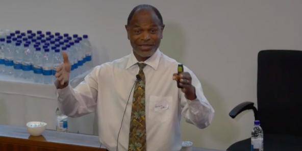 Abel Sithole lors d'une intervention à l'université de Stellenbosch en Afrique du Sud.