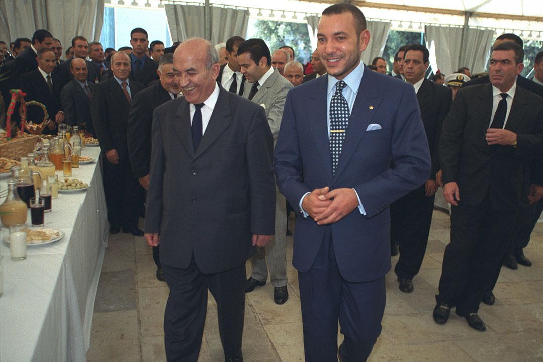 Le roi Mohammed VI aux côtés de son Premier ministre, Abderrahmane Youssoufi.