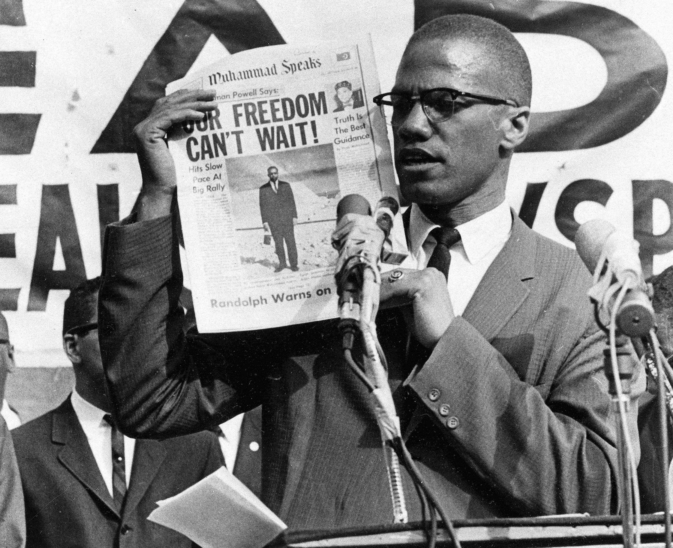 Malcolm X à New York, le 6 août 1963.
