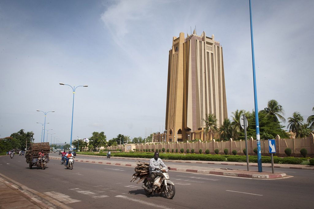 Siège de la BCEAO, à Bamako, en juin 2019.