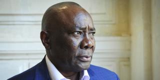 L'ancien président de l'Assemblée centrafricaine, Abdoul Karim Meckassoua, en juillet 2017, à Paris.