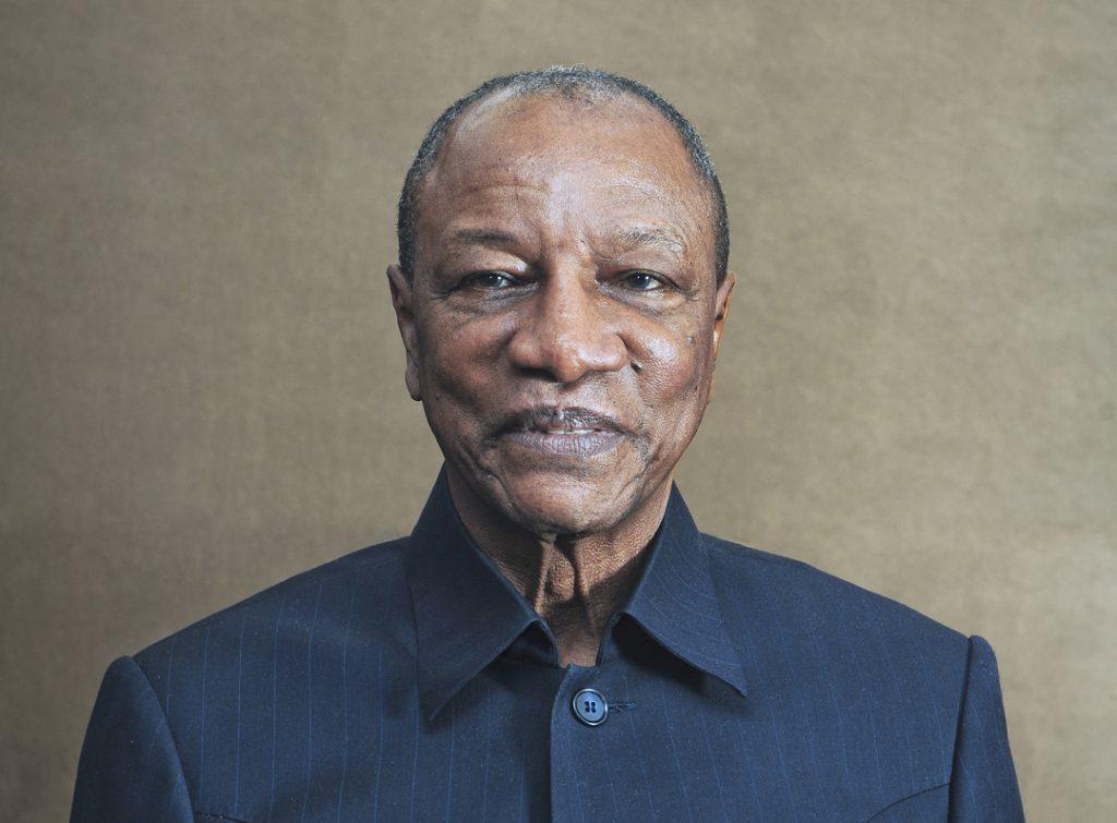 Le président guinéen Alpha Condé, en octobre 2016, à Conakry.