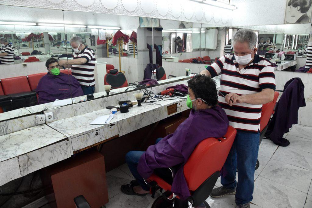 Réouverture des salons de coiffure pour hommes. Ici, à Alger, le 7 juin 2020.
