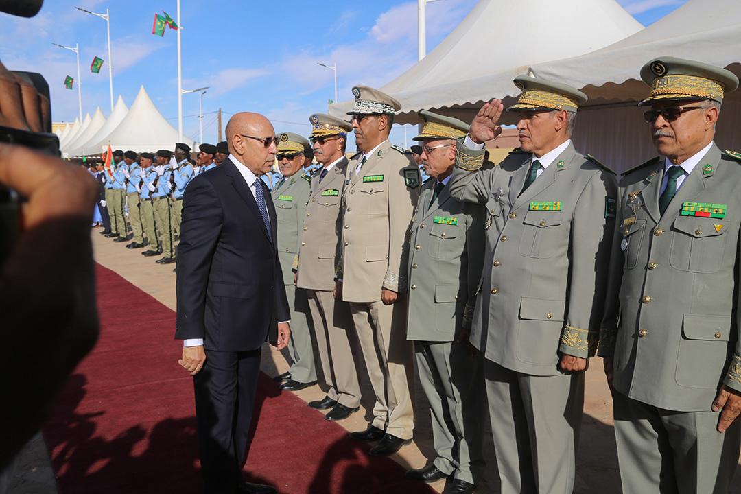 Le président mauritanien Ghazouani lors de la célébration de l'Indépendance, à Akjoujt, le 28 novembre 2019
