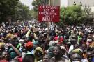 Des manifestants anti-IBK à Bamako le 5 juin 2020.