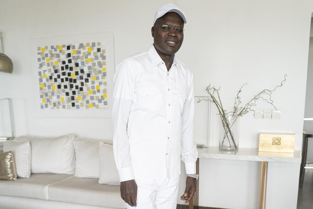 Khalifa Sall à son domicile, trois jours après sa sortie de prison. Dakar, le 2 octobre 2019.