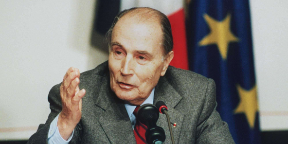 L'ancien président François Mitterand en décembre 1991.