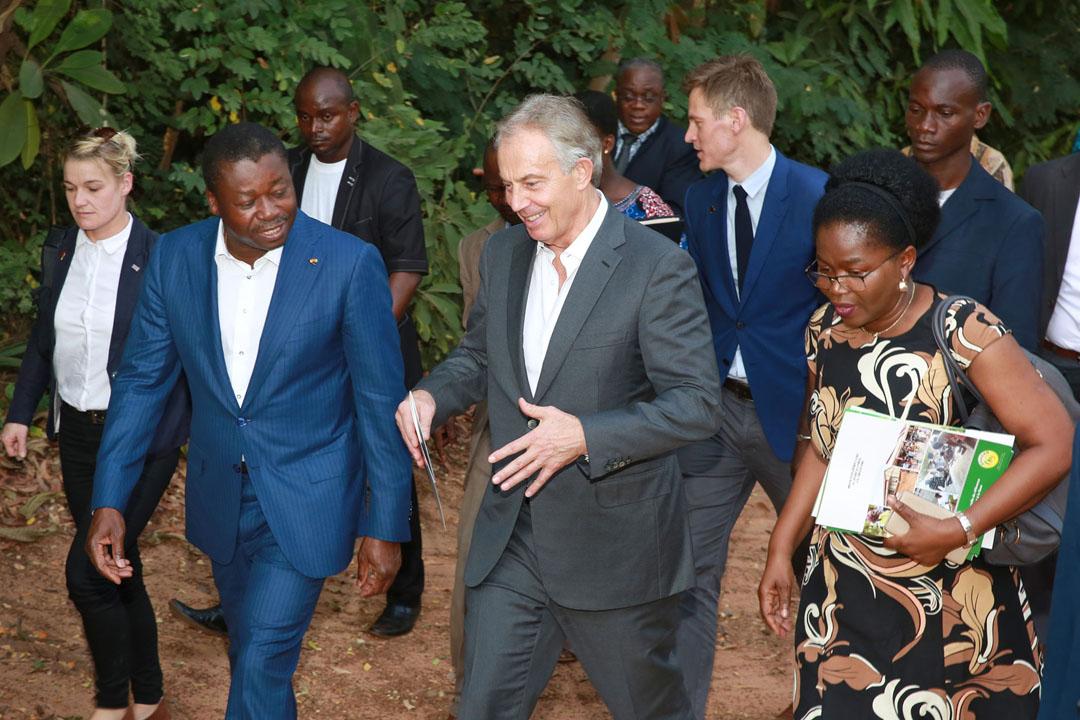 Visite de travail de Tony Blair avec Faure Gnassingbé dans la région de la Kara, le 16 novembre 2017.