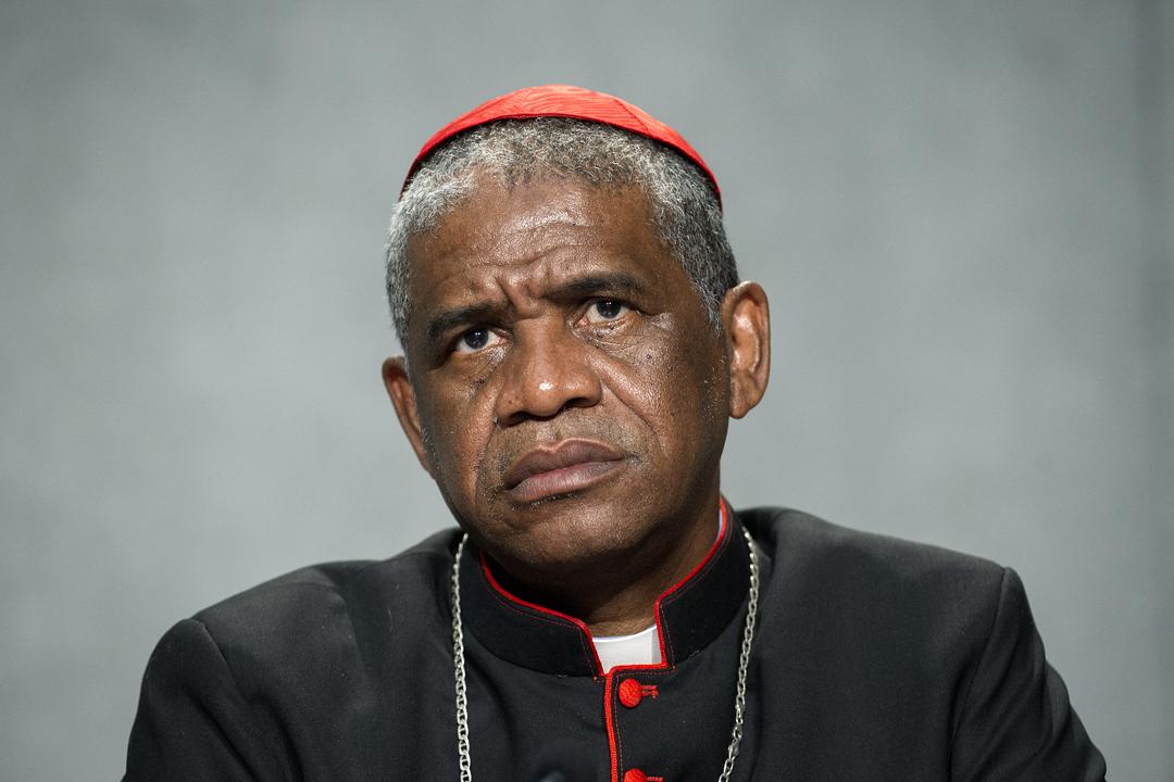 Monseigneur Désiré Tsarahazana, cardinal de Madagascar et archevêque de Tamatave.