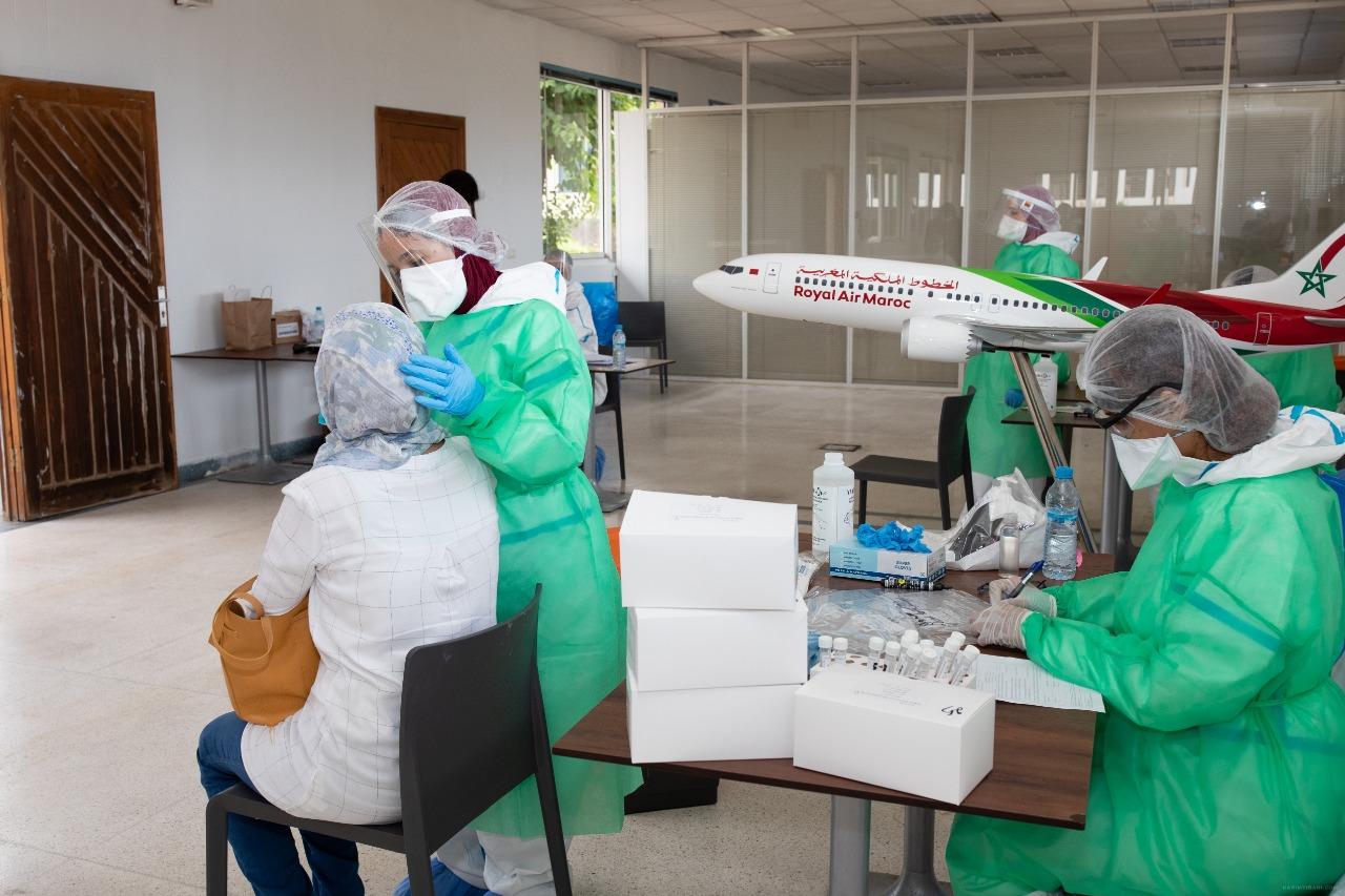 La RAM a lancé le 17 juin 2020 une campagne de dépistage au Covid-19 à l'aéroport Mohammed V et au siège de Casablanca.