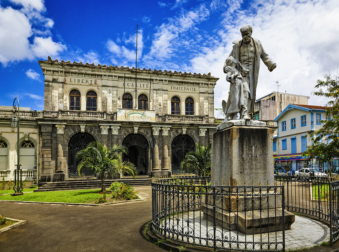 Une statue de Victor Schœlcher à Fort-de-France, Martinique, Caraïbes, France.