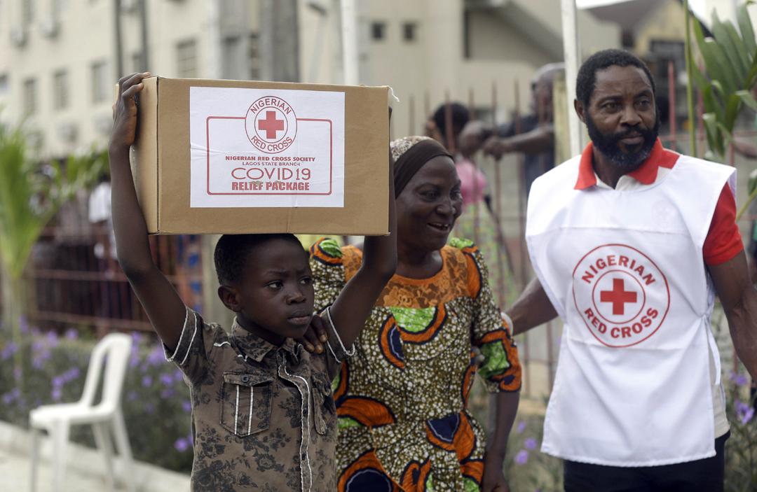 Dans le bidonville de Makoko, à Lagos, le 25 avril 2020.