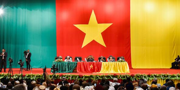 La séance de clôture du Grand dialogue national, le 4 octobre 2019, à Yaoundé.