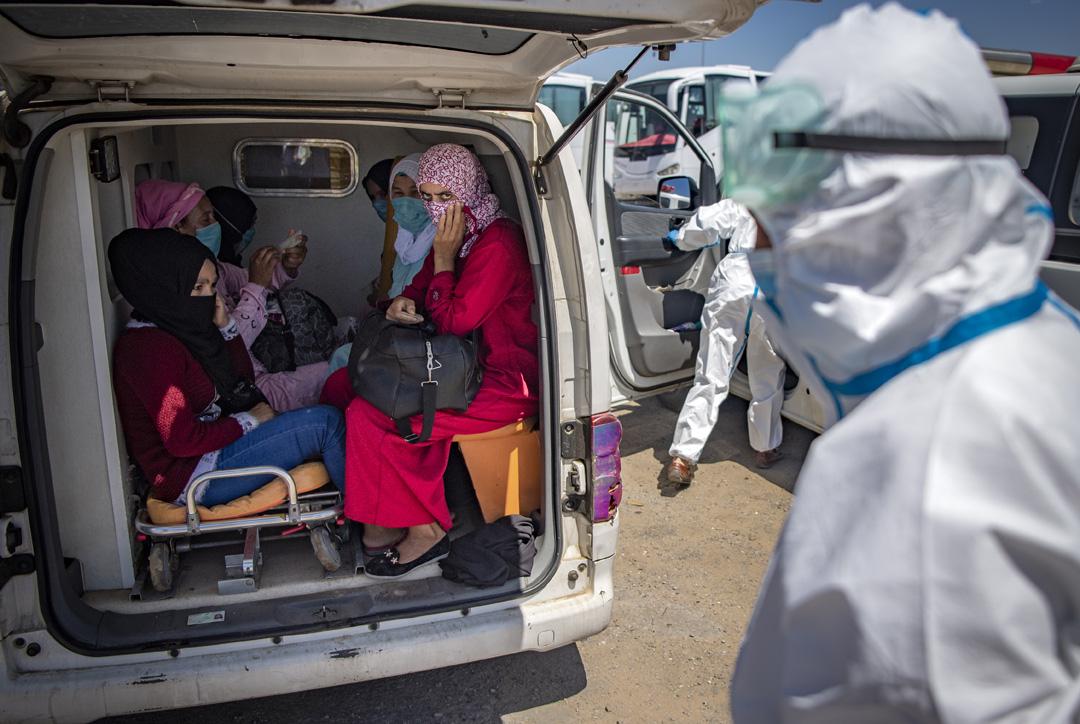 Vendredi 19 juin, plus de 500 contaminations au Covid-19 ont été recensées au Maroc, contre une centaine par jour en moyenne habituellement. Ici à Moulay-Bousselham, au nord de Rabat, le 20 juin 2020.
