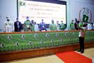 Cérémonie de clôture de la session extraordinaire du Bureau Politique du PDCI-RDA pour la préparation de sa convention, le 5 juin 2020.