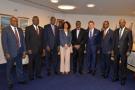 Les huit candidats à la présidence de la banque africaine de développement, en mai 2015. Au centre Akinwumi Adesina, à gauche Thomas Zondo Sakala, Bedoumra Kordjé et Birama Sidibé.