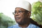Ibrahim Boubacar Keïta (Mali), lors d'une interview à Jeune Afrique au palais de Koulouba. A Bamako, le 17 juin 2019.