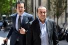 Belhassen Trabelsi (à droite) arrive au tribunal d'Aix-en-Provence, le 19 juin 2019.