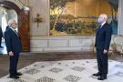 Le titulaire du perchoir (à g.) face à l'hôte du palais de Carthage, le 20 mai 2020.