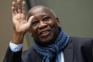 Laurent Gbagbo à La Haye, à l'issue d'une audience de la CPI, le 6 février 2020.
