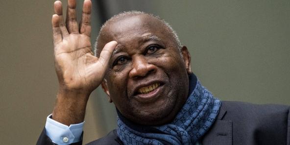 Laurent Gbagbo à La Haye, à lissue d'une audience de la CPI, le 6 février 2020.