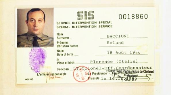 Carte de visite ou papiers d'identité d'Elio Ciolini, alias Bruno Lugon, Roland Baccioni ou Bruno Raul Rivera Sanchez.