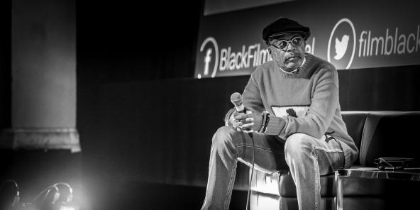 Afroamerykański reżyser Spike Lee na festiwalu Black Film Festival w Montrealu we wrześniu 2018 r.