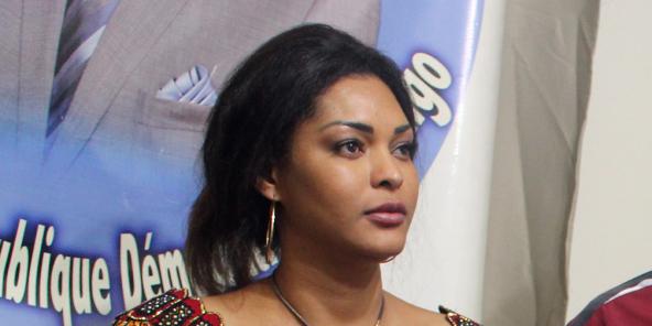 Hamida Chatur, l'épouse de Vital Kamerhe, lors de l'annonce des résultats de la présidentielle congolaise, le 10 janvier 2019.