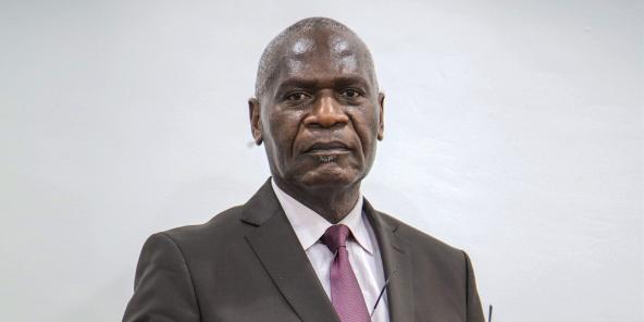 Dieudonné Bantsimba, maire de Brazzaville, à Brazza le 25 juin 2020.