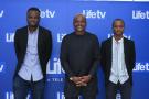 Fabrice Sawegnon (au centre)avec Florian Dehoue et Hans Lamblin, lors du lancement de Life TV, le 26 juin 2020.