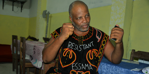 Le Camerounais André Blaise Essama, en 2017.