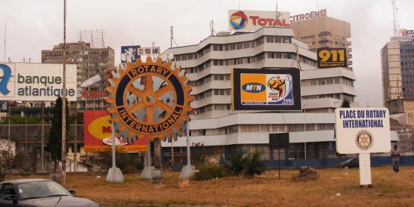 Panneau publicitaire MTN sur le Plateau d'Abidjan (image d'illustration).